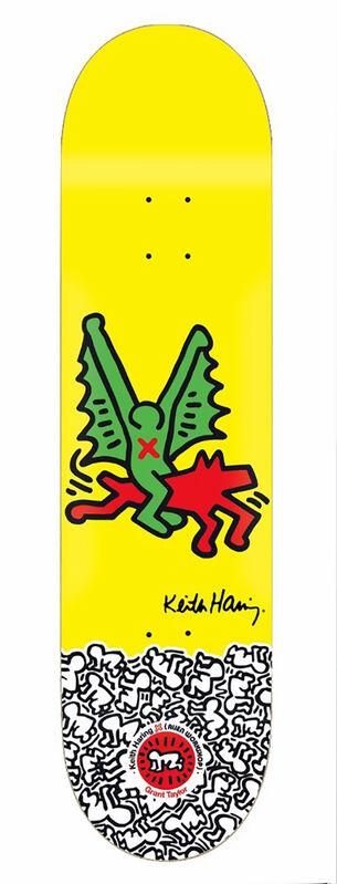 Keith Haring, 'Keith Haring Dragon Skateboard Deck ', 2012, Ephemera or Merchandise, Silkscreen on maple wood skate deck, Lot 180