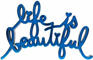 Mr. Brainwash, 'Life is beautiful - Hard Candy Blue', 2017