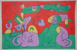 Joan Miró, 'VI. Ubu Roi: Bougrelas et Sa Mère', 1966