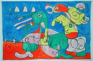 Joan Miró, 'VIII. Ubu Roi: Chez le Tsar', 1966