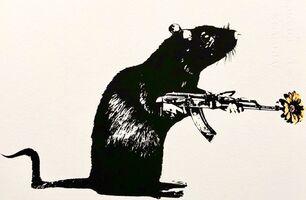 Blek le Rat, 'The Warrior', ca. 2020