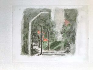 Landscape with a Red Spot