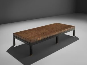 Jules Wabbes Custom Made Wenge Table with Brass Feet