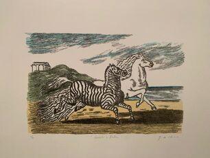 Cavallo e zebra (Prima versione)