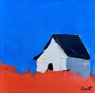 Sandra Pratt, 'White Barn and Blue Sky', 2018