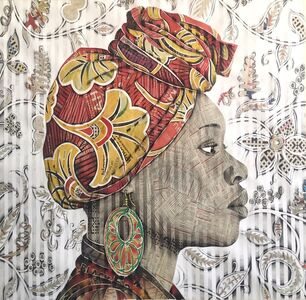Gary Stephens, 'LETICIA WITH HIBISCUS SCARF', 2020