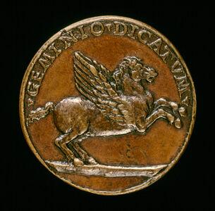 Niccolò Fiorentino, 'Pegasus [reverse]', ca. 1485