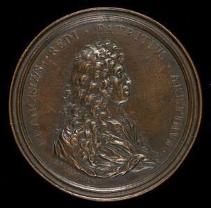 Massimiliano Soldani, 'Francesco Redi, 1626-1697, Physician and Scientist [obverse]', 1684