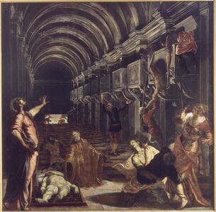 Jacopo Tintoretto, 'Miracle of St. Mark: The Discovery of the Saint's Body', 1562-1566