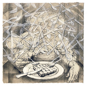 Andrew DeCaen, 'Square Lunch', 2014