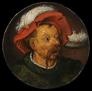 Pieter Bruegel the Younger, 'Head of a Landsknecht and Head of a Woman', Sixteenth Century