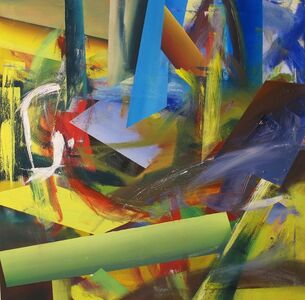 Gerhard Frommel, 'Scattered World with Green Bar and Blue Flash', 2014
