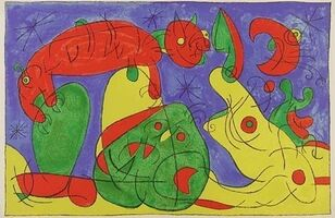 Joan Miró, 'La Nuit, L'Ours, pl. XI, from Suites for Ubu Roi', 1966