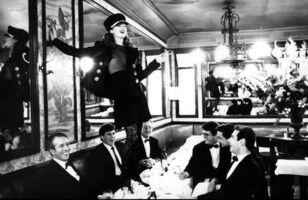 Arthur Elgort, 'Kate Moss at Café Lipp in Paris, Italian Vogue', 1993