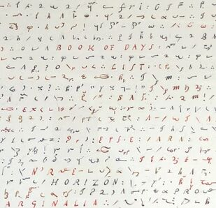 Simon Lewty, 'Fragment from a Shorthand Diary', 2015