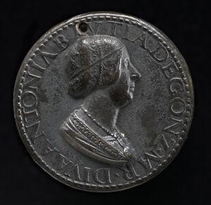 Antico, 'Antonia del Balzo, 1441-1538, Wife of Gianfrancesco Gonzaga di Rodigo 1479 [obverse]'
