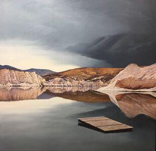John Toomer, 'Under a Brooding Sky (Blue Lake - St. Bathans, Central Otago)', 2019