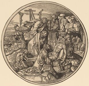 Jacob Cornelisz van Oostsanen, 'Deploration and Entombment of Christ', 1514
