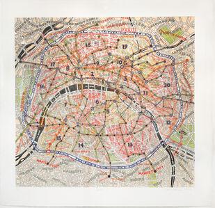 Paula Scher, 'Paris', 2012