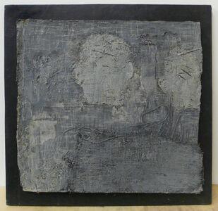Zhang Hongtu, 'Self-portrait, the back, grey', 1989