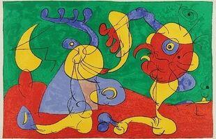 Joan Miró, 'VII. Ubu Roi: Les Nobles à la Trappe', 1966