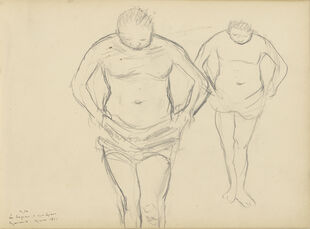 Copies of C'zanne's Bathers