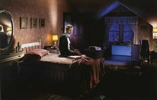 Gregory Crewdson, 'Untitled, Winter (Mother on Bed with Blood) Beneath the Roses', 2004