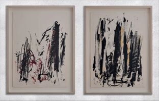 Joan Mitchell, 'Trees ( Black and Red - Black and Yellow )', 1991-1992