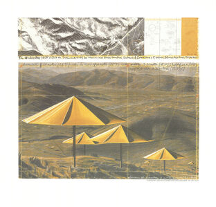 Christo, 'The Yellow Umbrellas', 1991