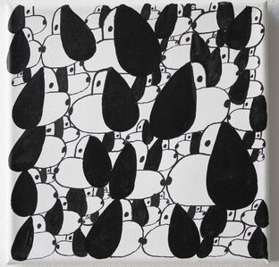 Nina Bovasso, 'Black + White SNOOPIES', 2019