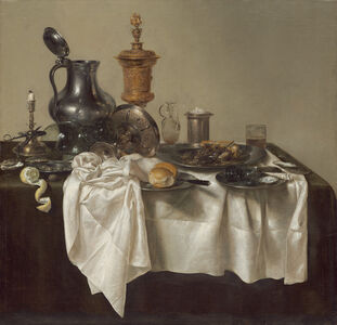 Willem Claesz Heda, 'Banquet Piece with Mince Pie', 1635
