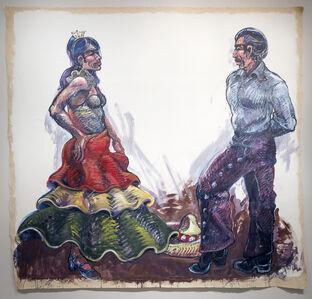 Luis Jimenez, 'Fiesta Dancers (Jarabe) - Working Drawing #2', 1989