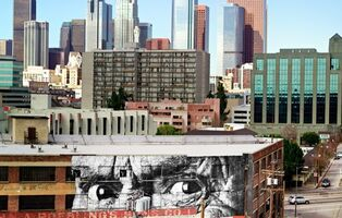 JR, 'The Wrinkles of the City, Los Angeles - Brewery Downtown - USA', 2011