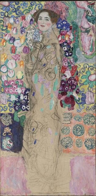 Gustav klimt posthumous portrait of ria munk iii 1917 for Biographie de klimt