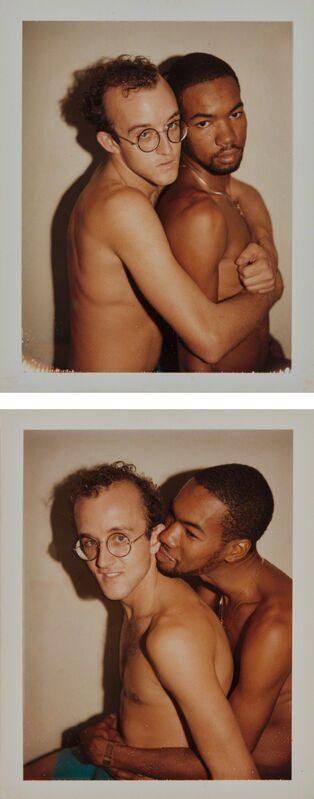 Andy Warhol, 'Keith Haring & Juan Dubose', 1983, Photography, Two Polaroid prints, Phillips