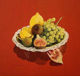 Ingeborg Haeberle, 'still life with figs and lemons', 2016