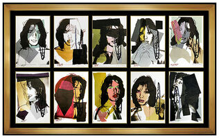 Andy Warhol, 'Andy Warhol Original Hand Signed Complete Set Mick Jagger Lithograph Artwork SBO', 1975