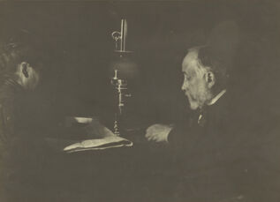Louise Hal'vy Reading to Degas