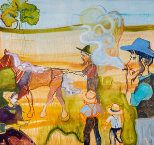 Brian Kokoska, 'Young Amish Family (Pastures of Plenty)', 2020