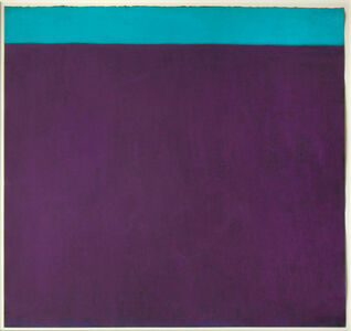 Harriet Zabusky-Zand, 'Purple and Turquoise', ca. 2005