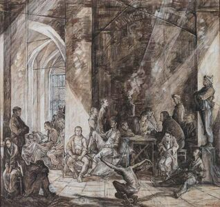 Sergei Chepik, 'The House of the Dead (Sketch)', 1984