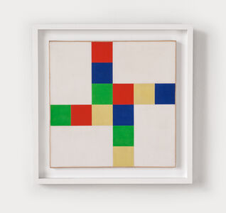 Richard Paul Lohse, 'Zweimal zwei gleiche Farbryhthmen mit 4 weissen Feldern', 1952/70