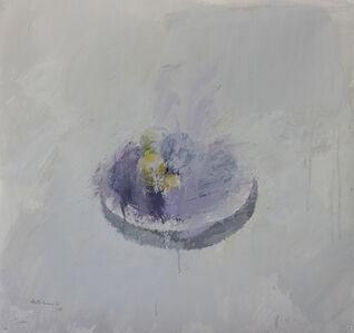 """Alberto Romero, '""""Plato con ciruelas negras y amarillas""""', 2017"""