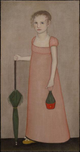 Ammi Phillips, 'Portrait of Harriet Campbell', ca. 1815