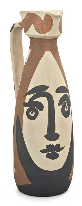 Pablo Picasso, 'VISAGE (A. R. 288)', 1955, Sculpture, Painted and partially glazed (interior only) white ceramic pitcher, Doyle
