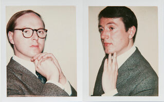 Andy Warhol, 'Andy Warhol Polaroids, Gilbert and George Diptych, 1975', 1975