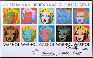 "Andy Warhol, '""to Beverly Hills Brat"" Marilyn 1964, hand signed and inscribed by Andy Warhol', ca. 1985"