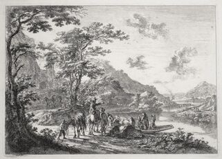 View of the Tiber with Country Landscape