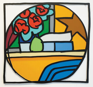 Tom Wesselmann, 'Still Life with Four Roses and Pear (Blue Pillow) (With Black) ', 1993