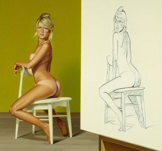 Mel Ramos, 'The Drawing Lesson #1', 1986-1987